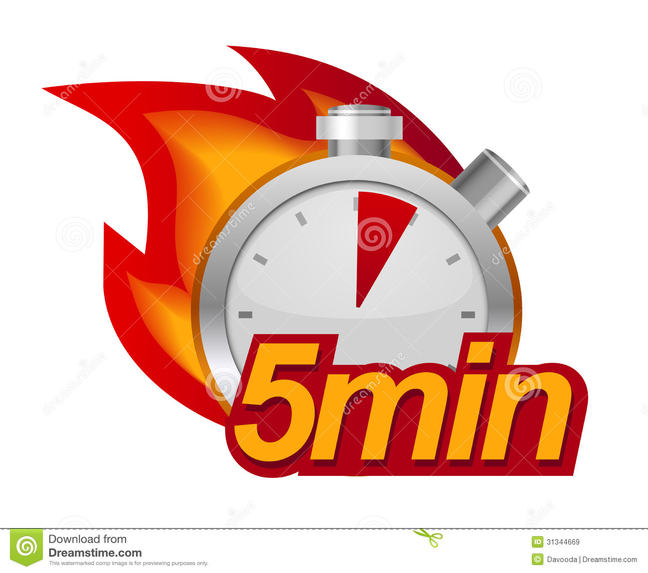 Five Minutes Timer Stock Vector Illustration Of Shiny