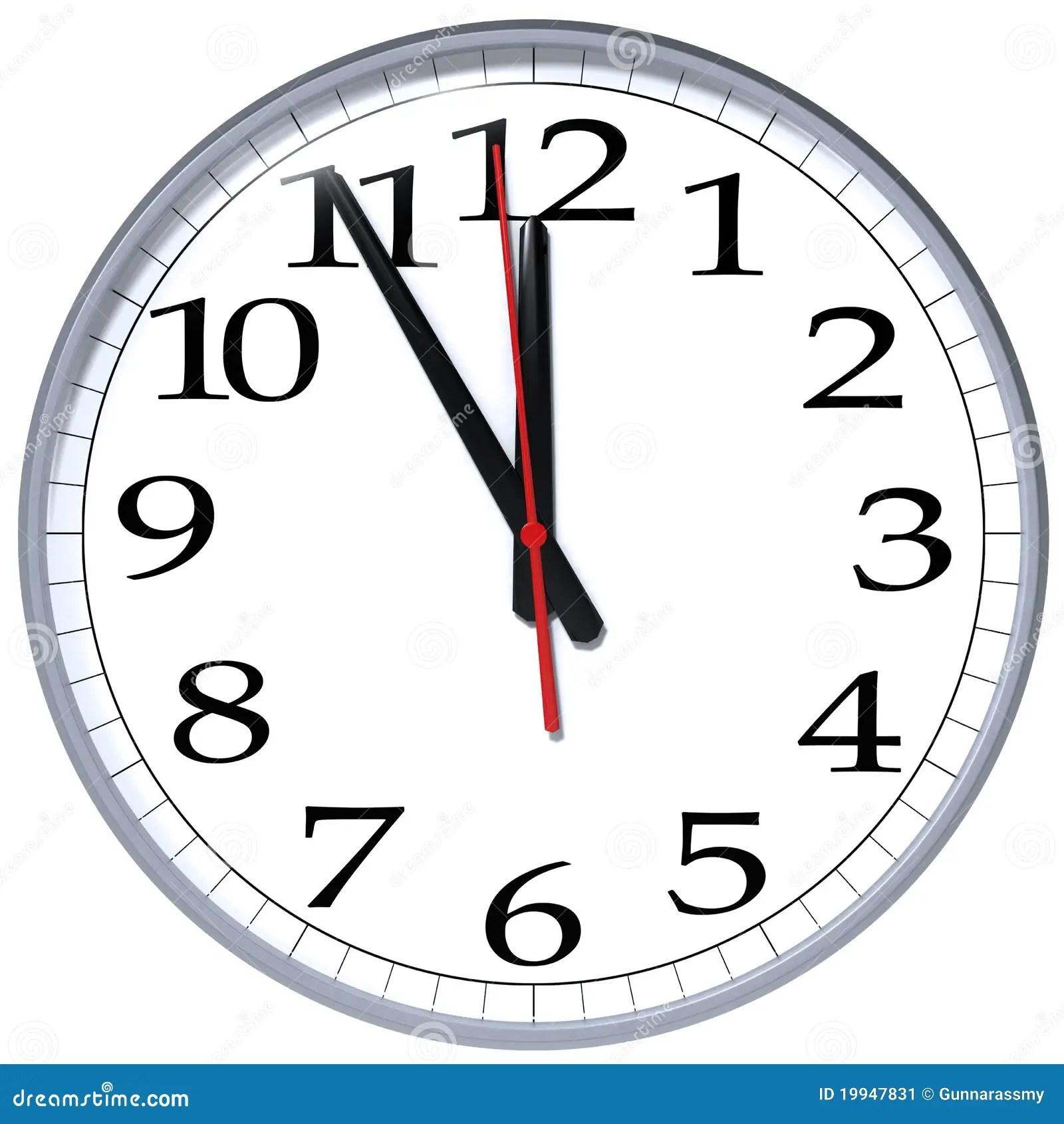 Five Minutes To Midnight Stock Illustration Illustration