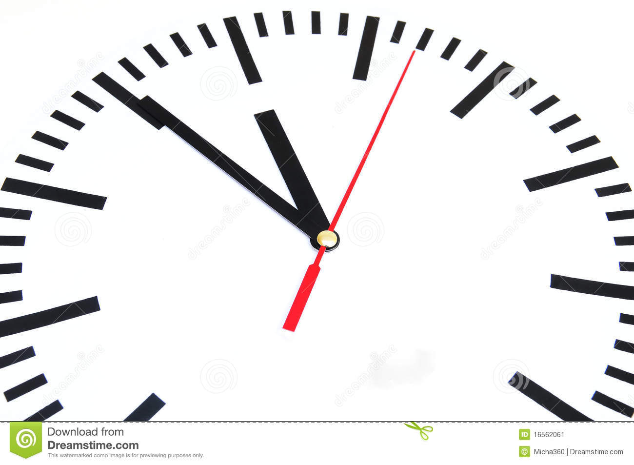 Five minutes to twelve stock image. Image of countdown