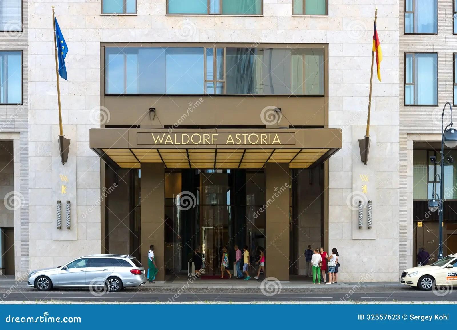 Five Star Hotel Waldorf Astoria Editorial Stock Photo