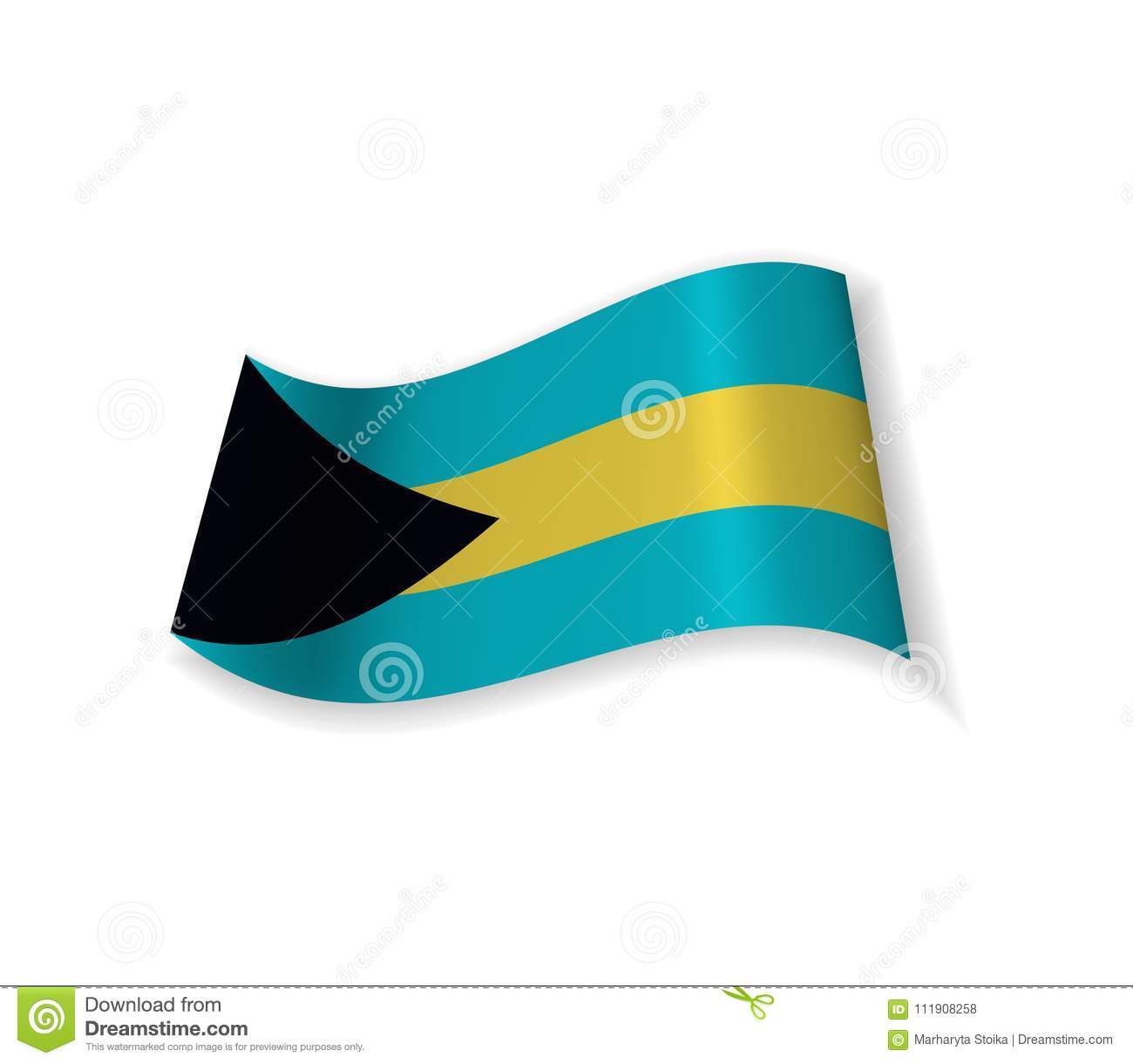 The Flag Of The Bahamas Stock Vector Illustration Of