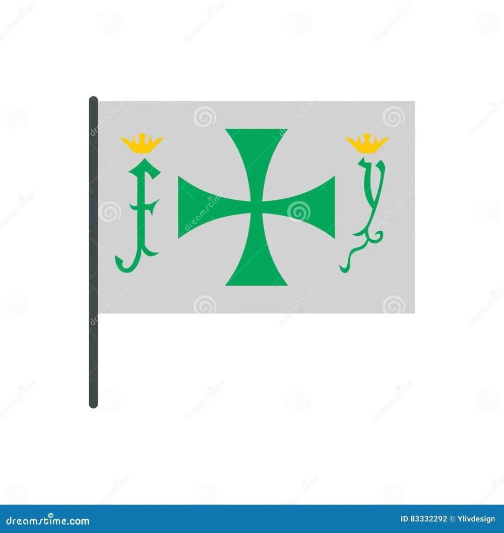 medium resolution of flag of christopher columbus icon
