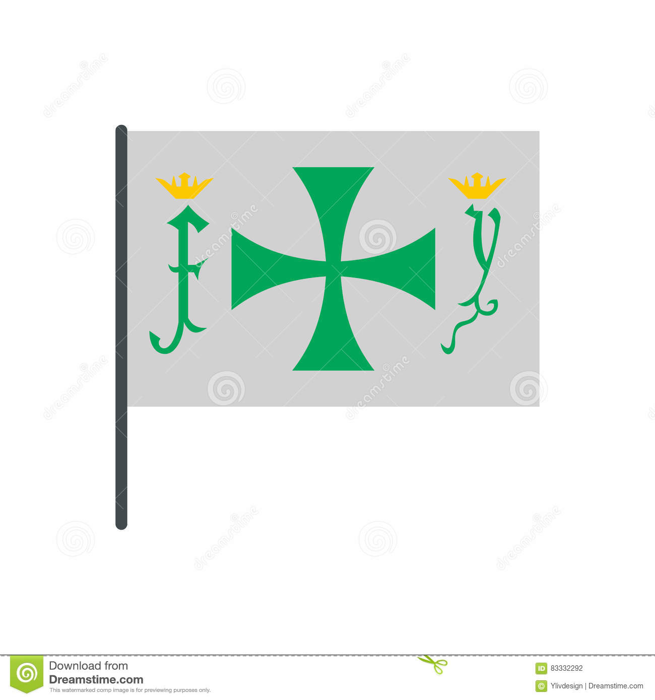hight resolution of flag of christopher columbus icon