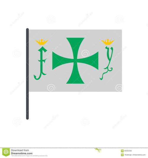 small resolution of flag of christopher columbus icon