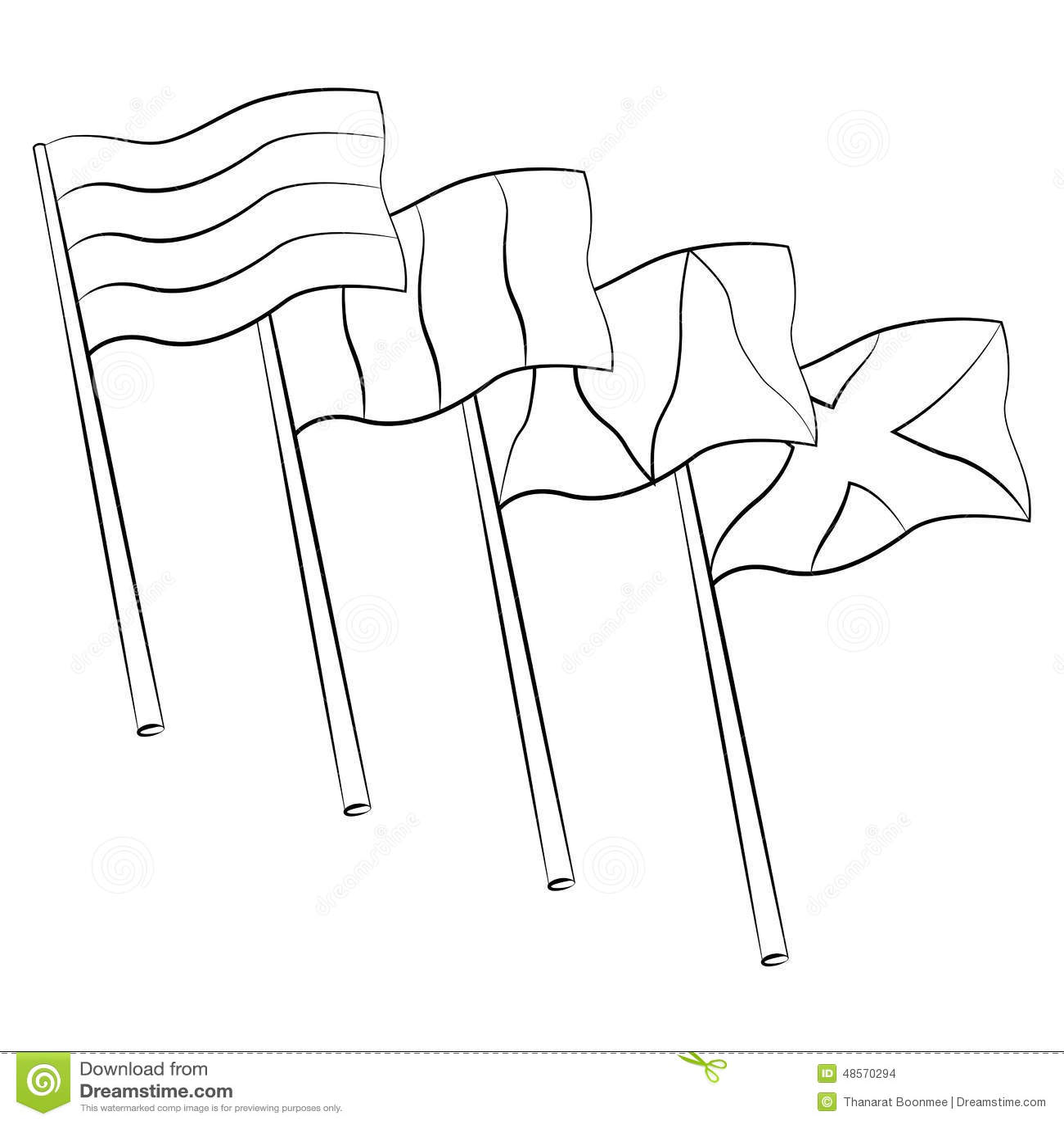 Flag Hole Stock Vector