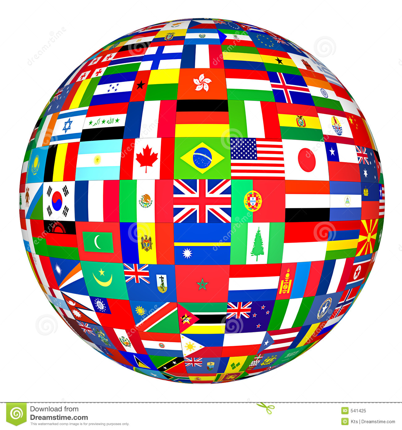 flags globe stock illustration