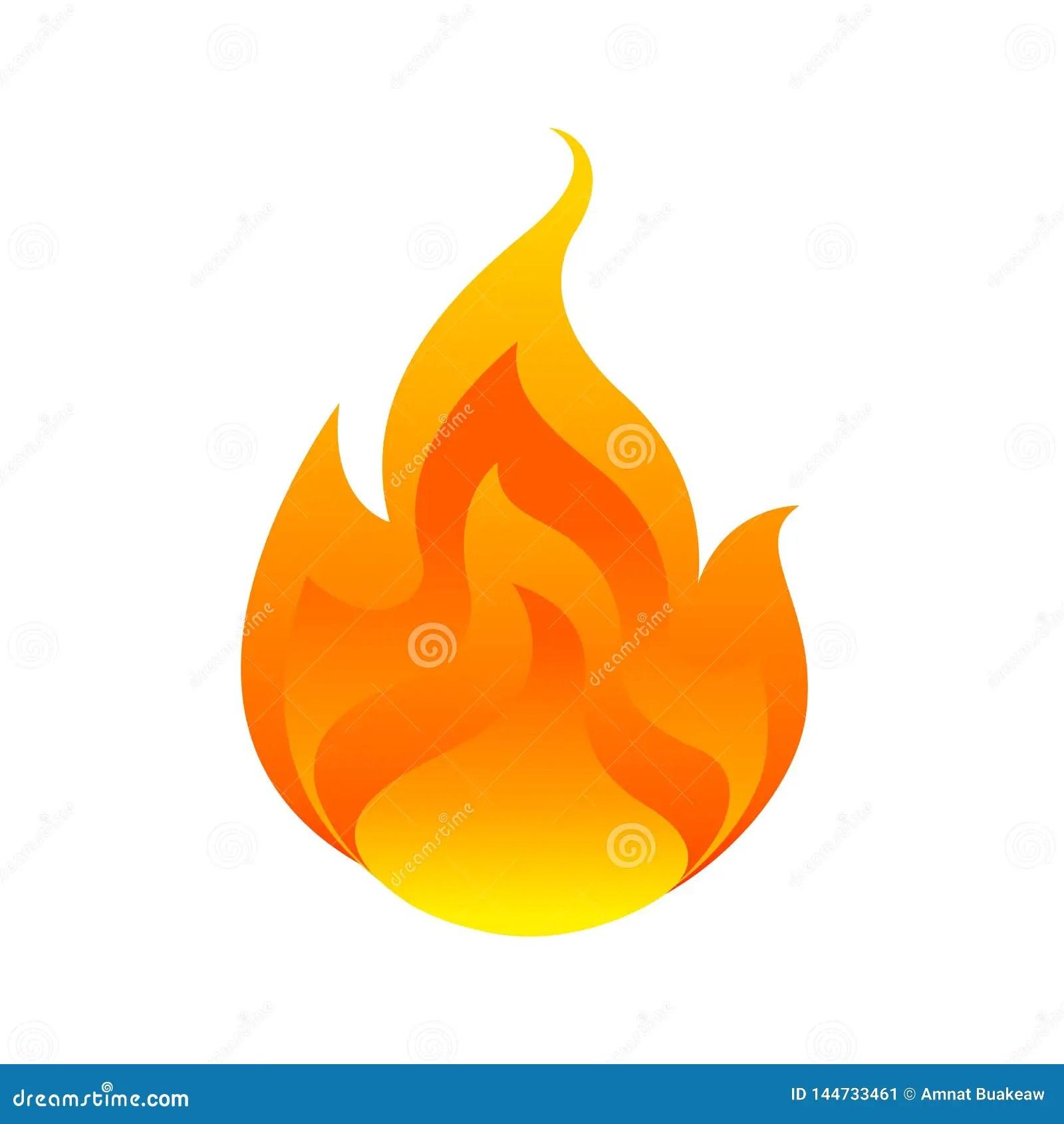 flame fireball isolated on