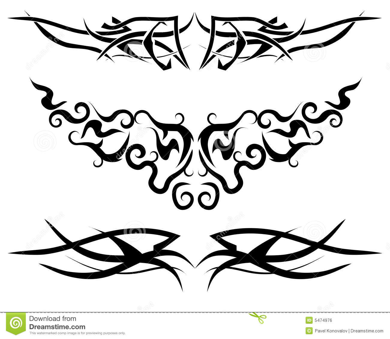 Flame Tattoo Stock Vector Illustration Of Construction