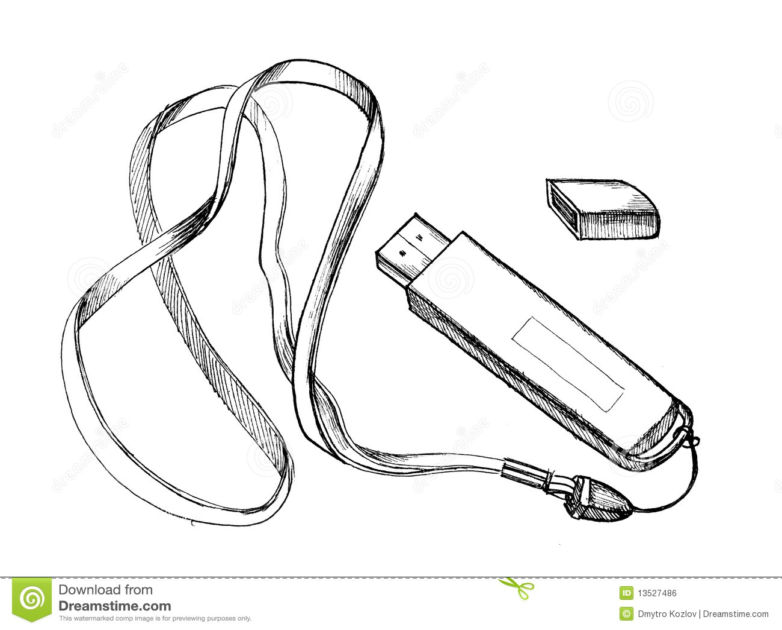 Flash drive stock illustration. Illustration of black