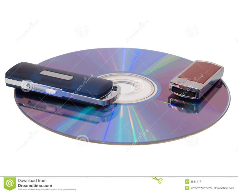 medium resolution of flash drive and cd