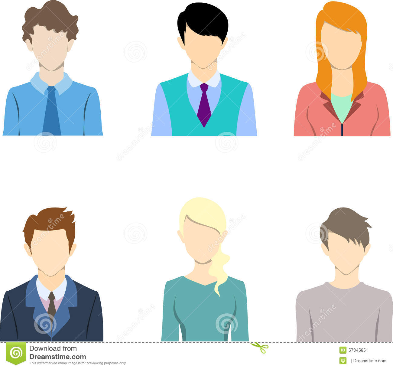 Flat Business People Icon Flat Icon Avatar Stock Vector Illustration Of People Person 57345851