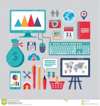 Flat Design - Business Vector Icons For Different Creative ...