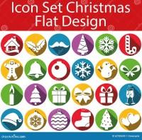 Flat Design Icon Set Christmas Stock Illustration - Image ...