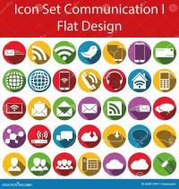 Flat Design Icon Set Communication I Stock Vector - Image ...