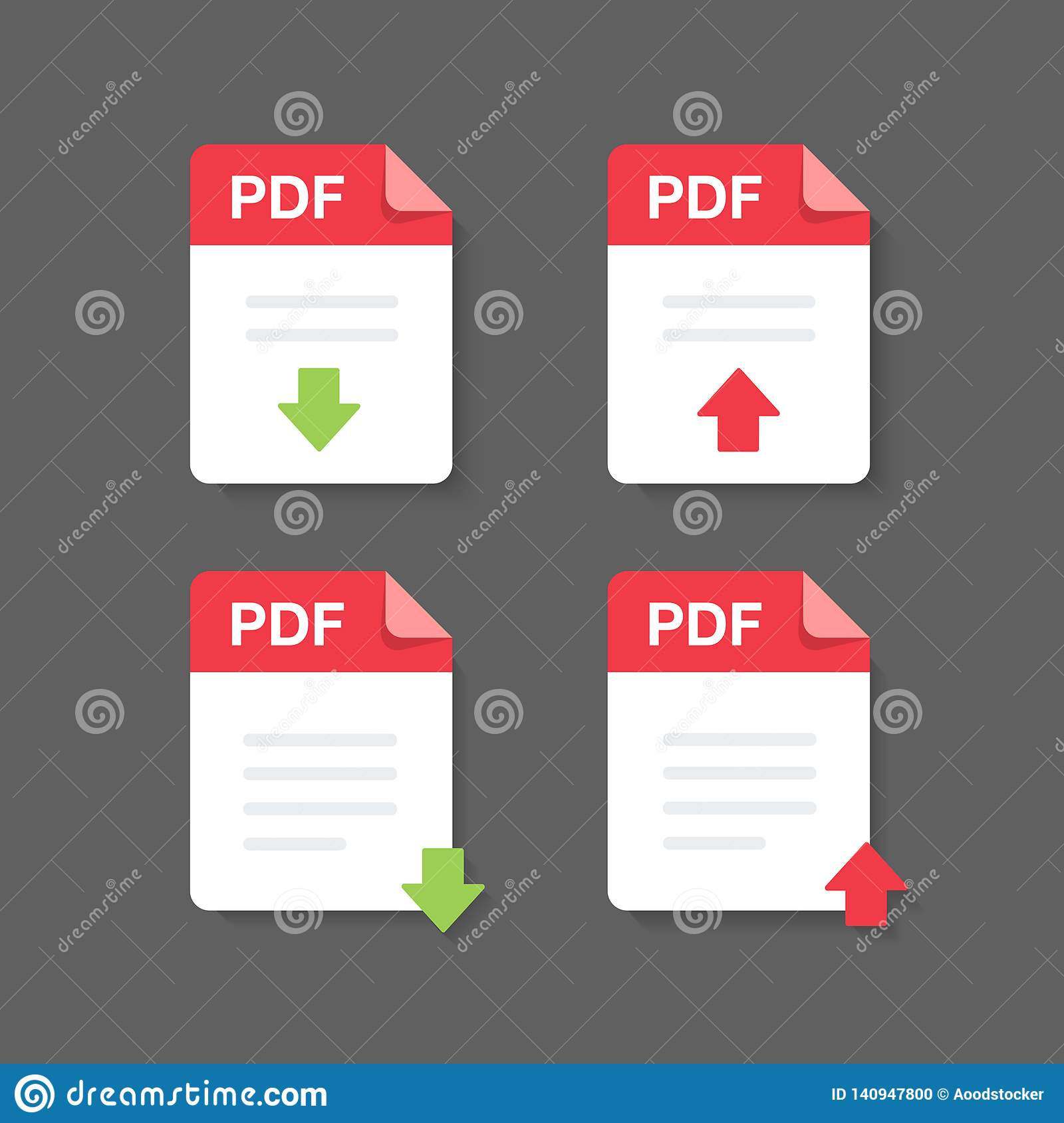 flat design with pdf