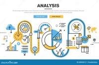 Flat Line Design Vector Illustration Concept For Data ...