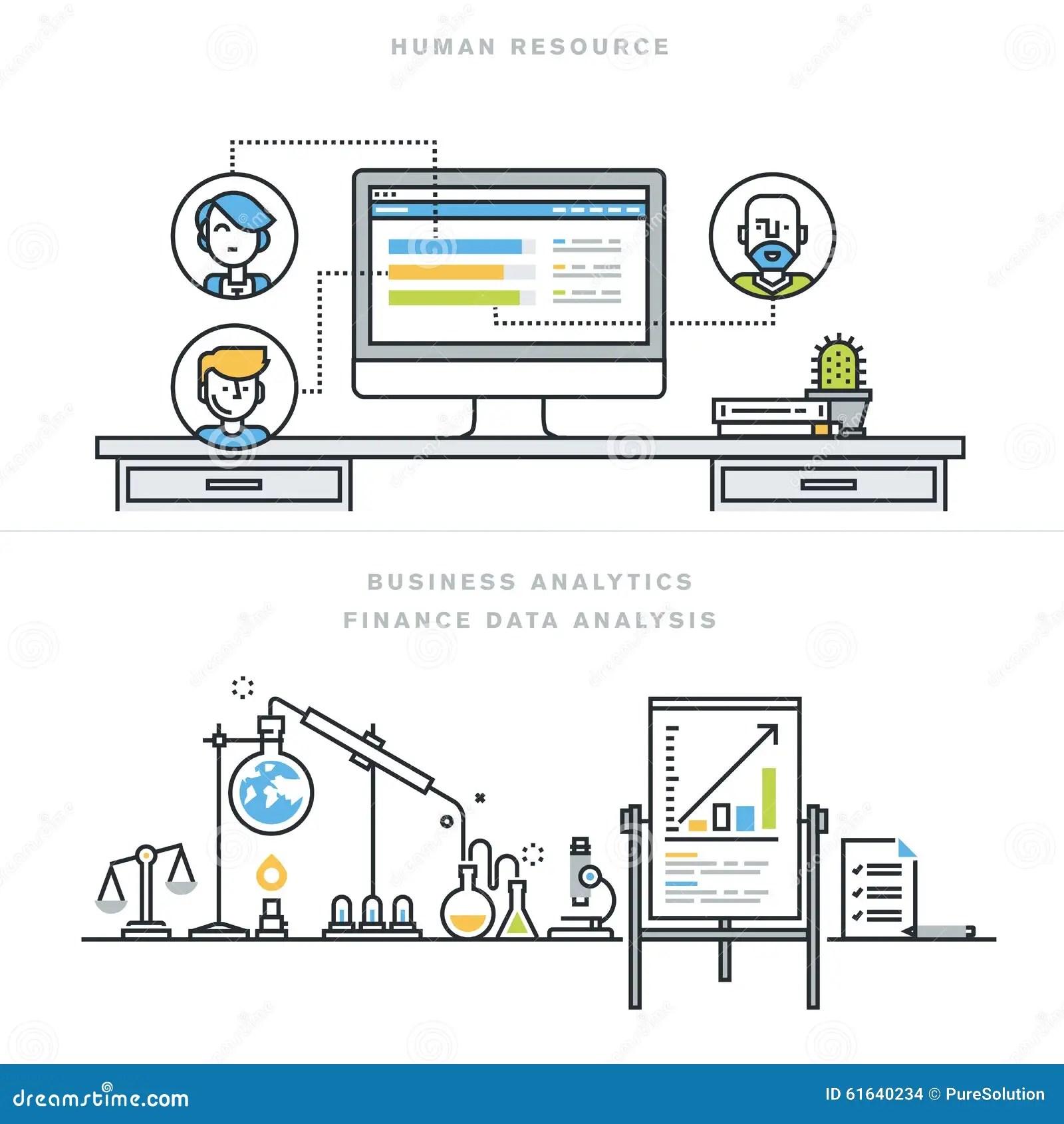 Flat Line Design Vector Illustration Concepts For Human