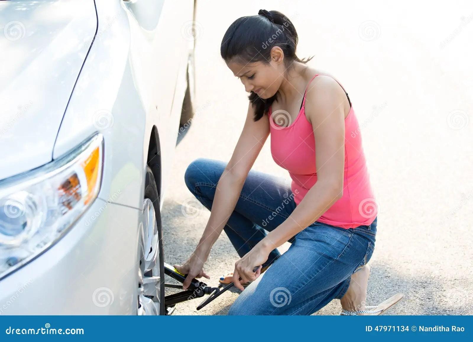 Fixing Flat Car Tire