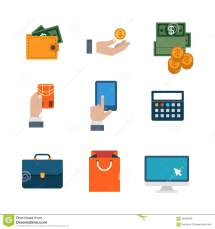 Flat Vector Site Interface Shopping Payment Business