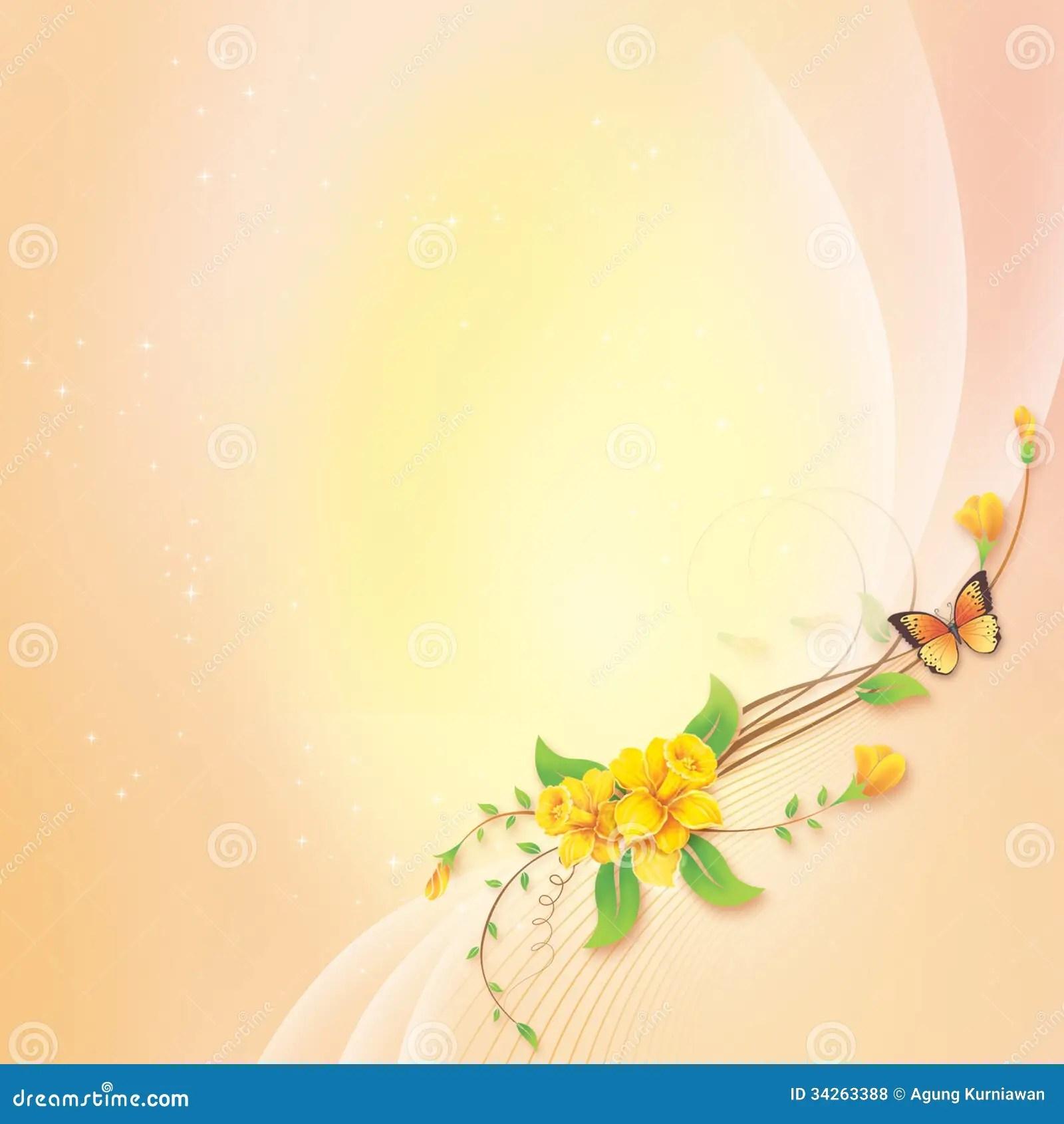 Fleur Avec Le Fond Abstrait Pour La Carte De Voeux Illustration Stock  Illustration du