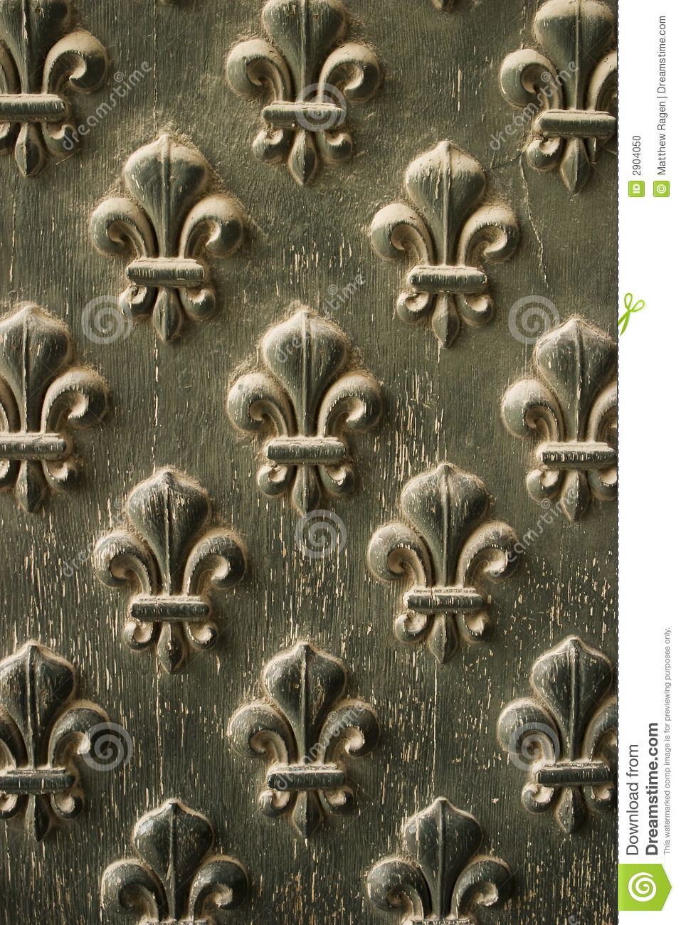 Fleur De Lis Pattern On Door Stock Photo  Image 2904050