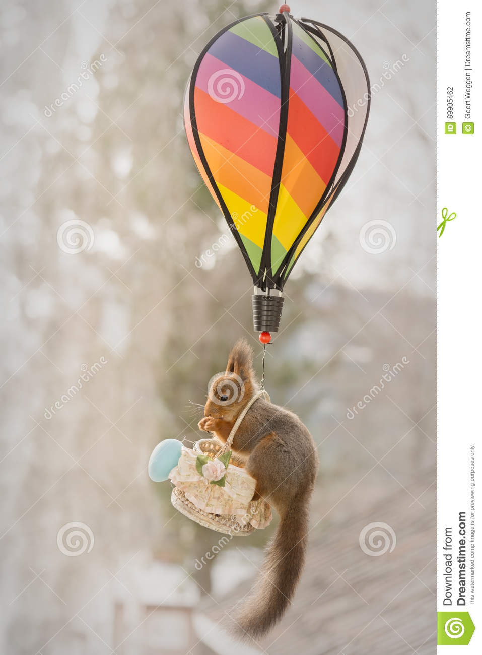 Flight With A Balloon RoyaltyFree Stock Image