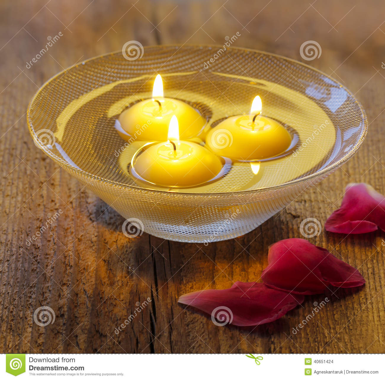 Candles Floating Water