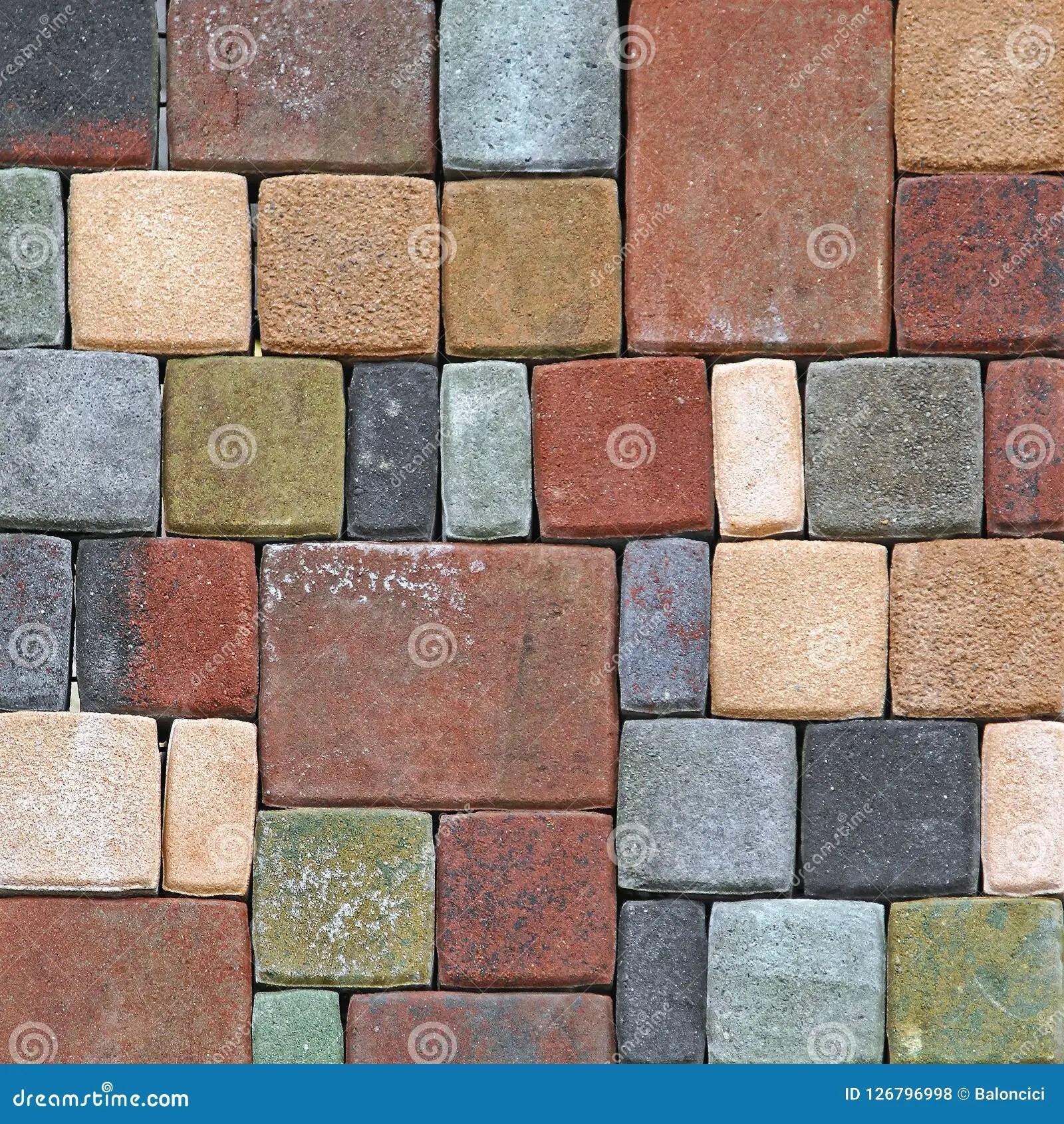 https www dreamstime com floor bricks mosaic colour outdoor floor bricks mosaic pattern background image126796998