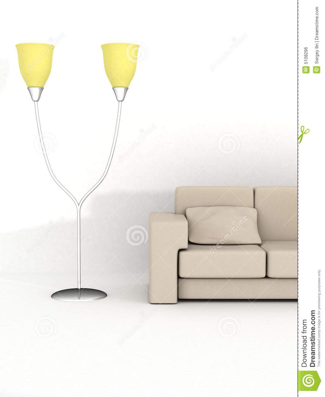 sofa floor lamp bed pull out frame and royalty free stock image 5108296