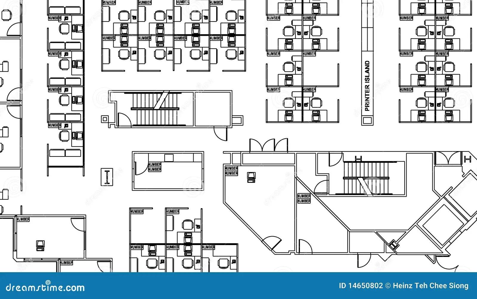 Floor Plan Stock Illustration Image Of Building Digital