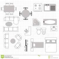 Floor plan with furniture stock vector. Illustration of ...