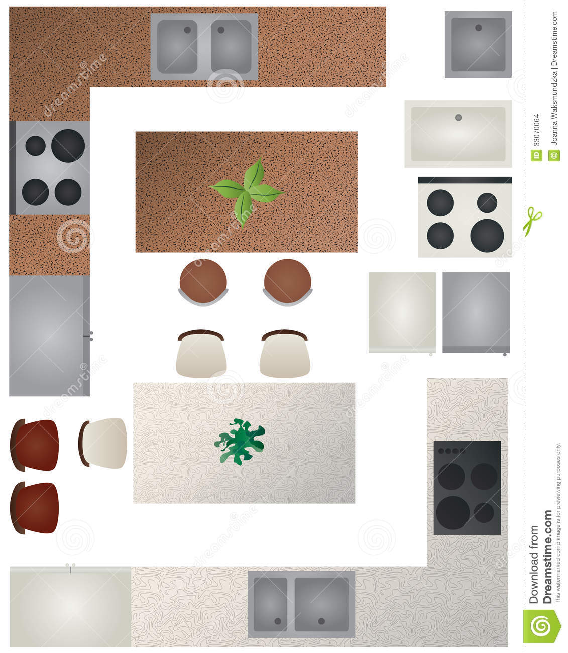 kitchen chair design plans high chairs kmart floor plan collection stock vector illustration