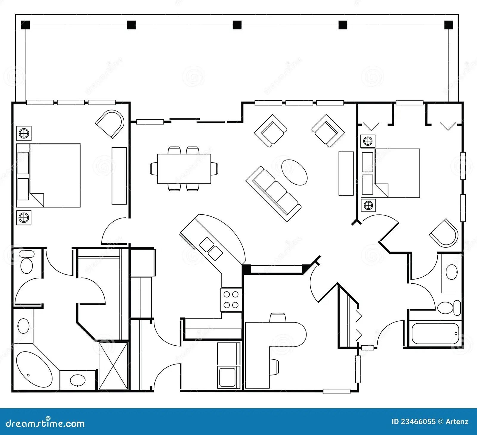 Floorplan stock illustration. Illustration of home, dining