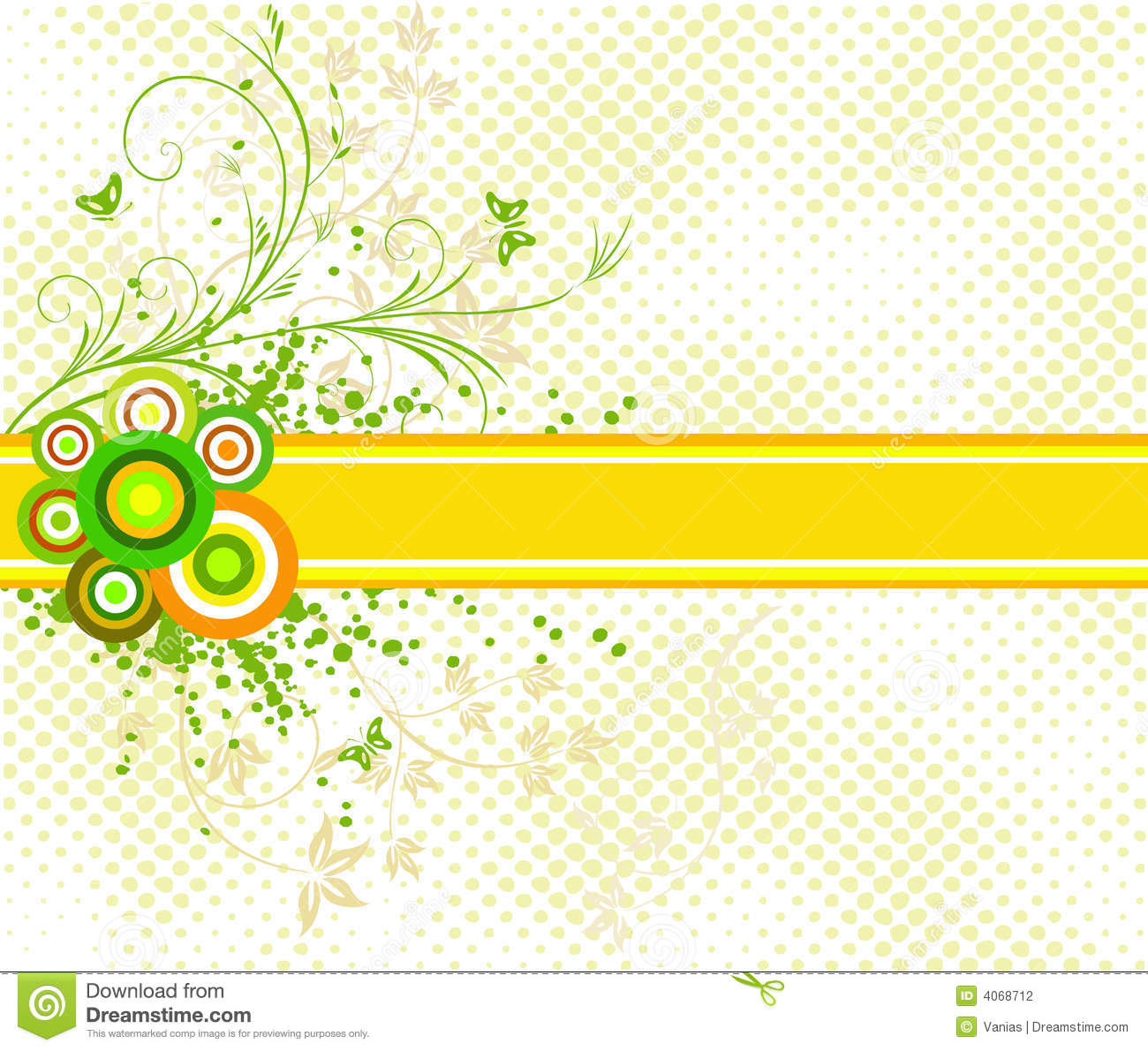 Floral Artistic Vector Design Background Stock Vector