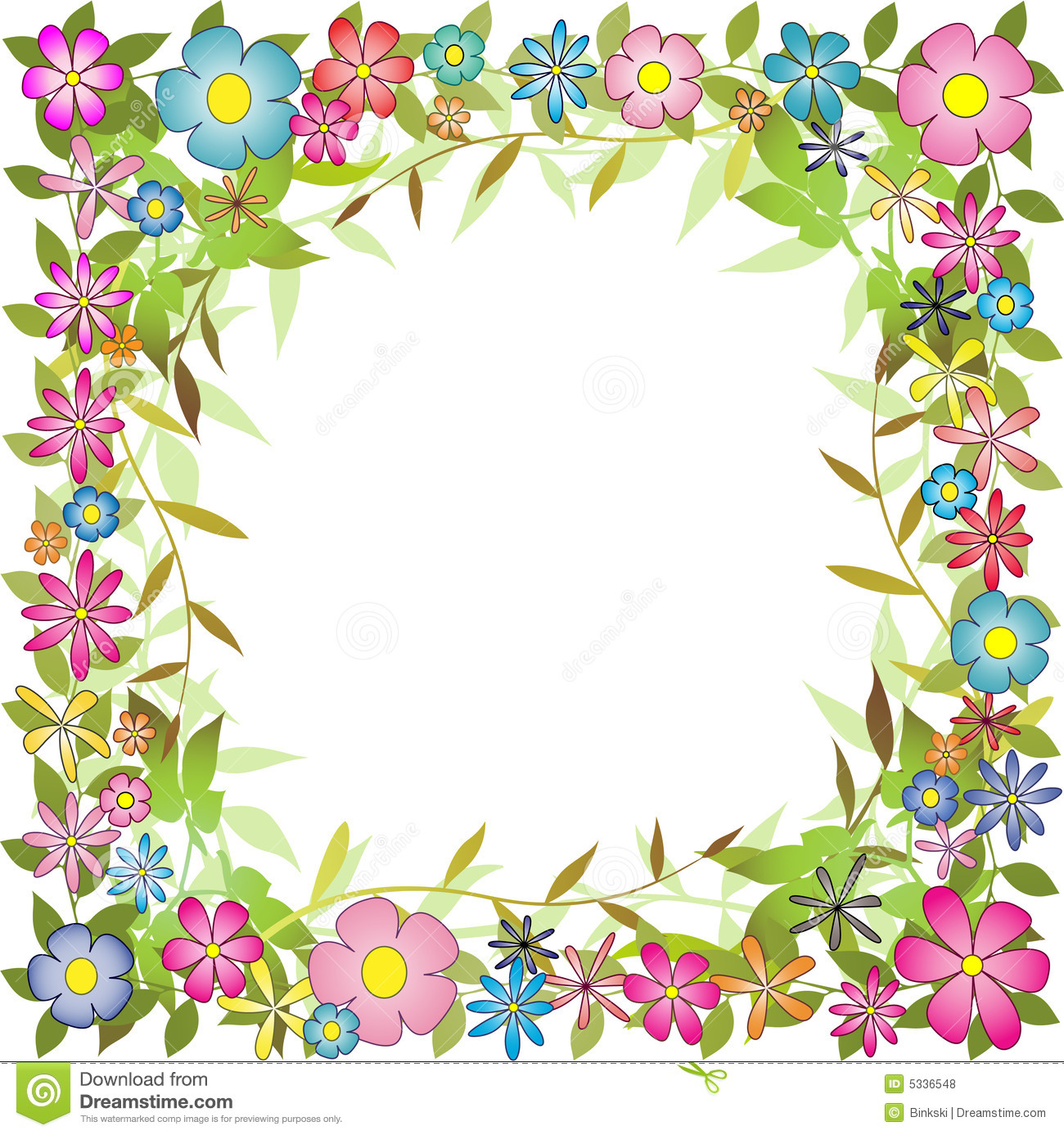 hight resolution of floral background border