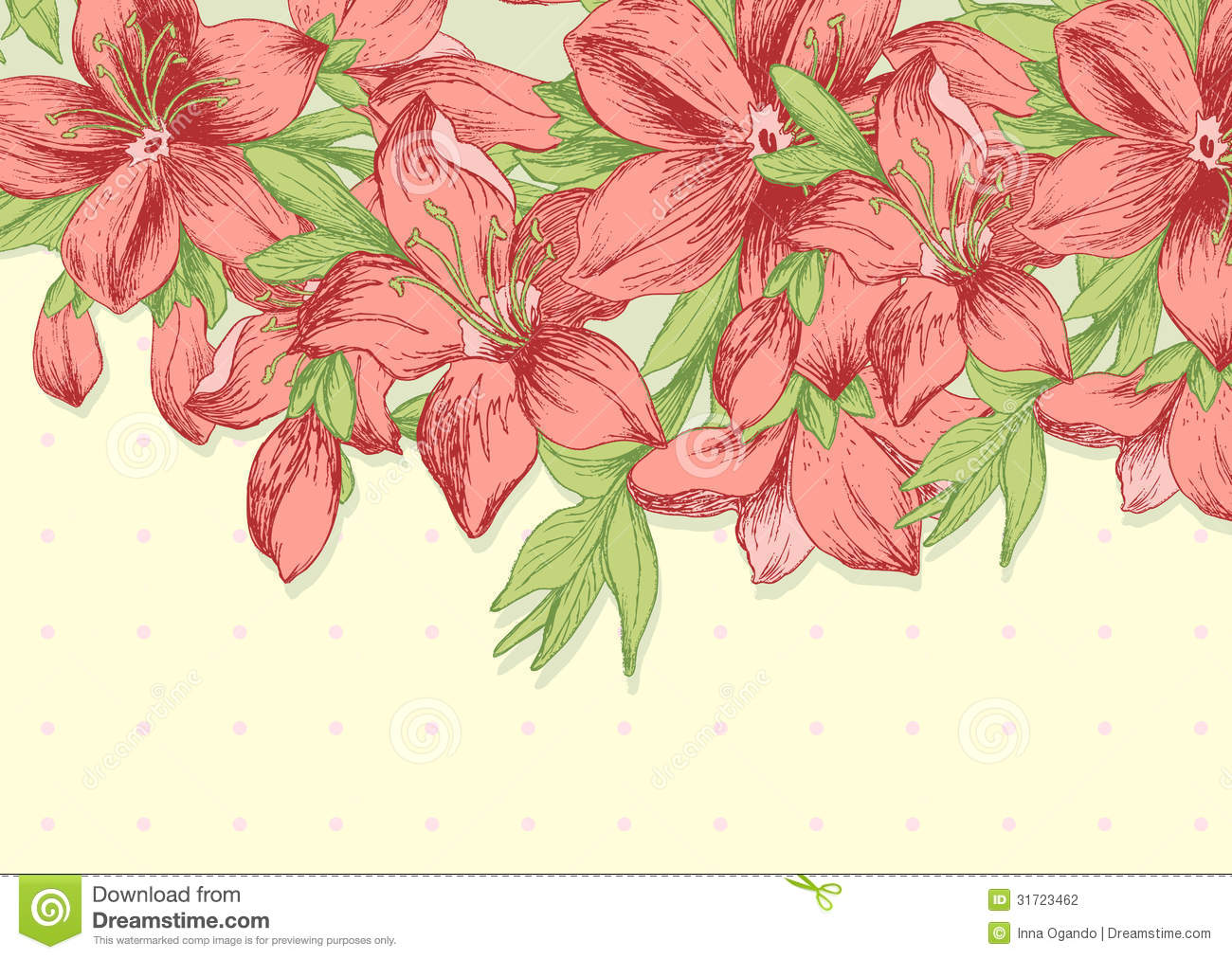 Floral Background Template Stock Photography Image 31723462