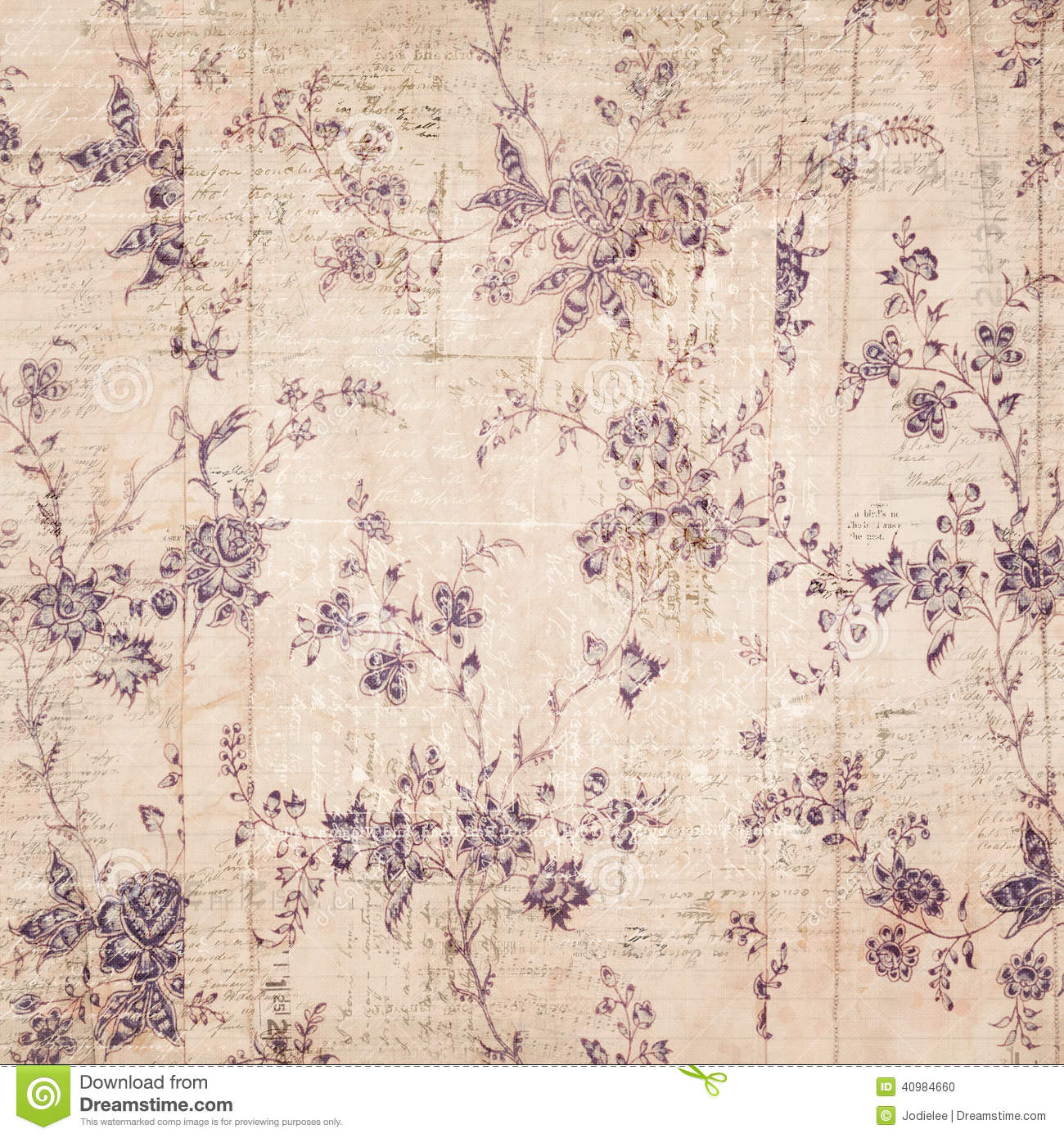 Floral Background With Text Stock Photo Image 40984660