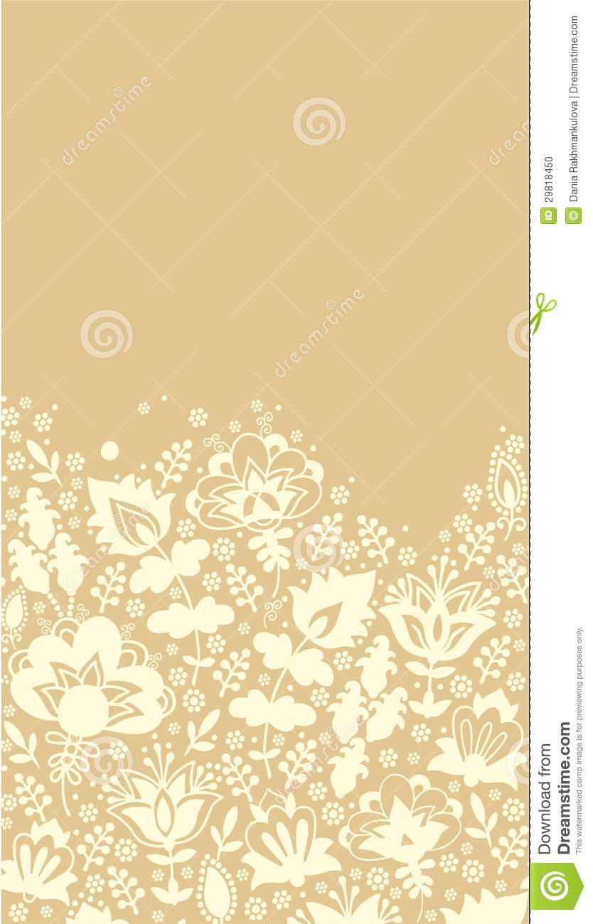Contoured floral border stock photo Image of febrary