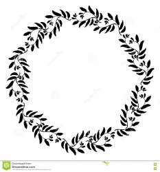 Floral circle frame stock vector Illustration of drawing 78159024