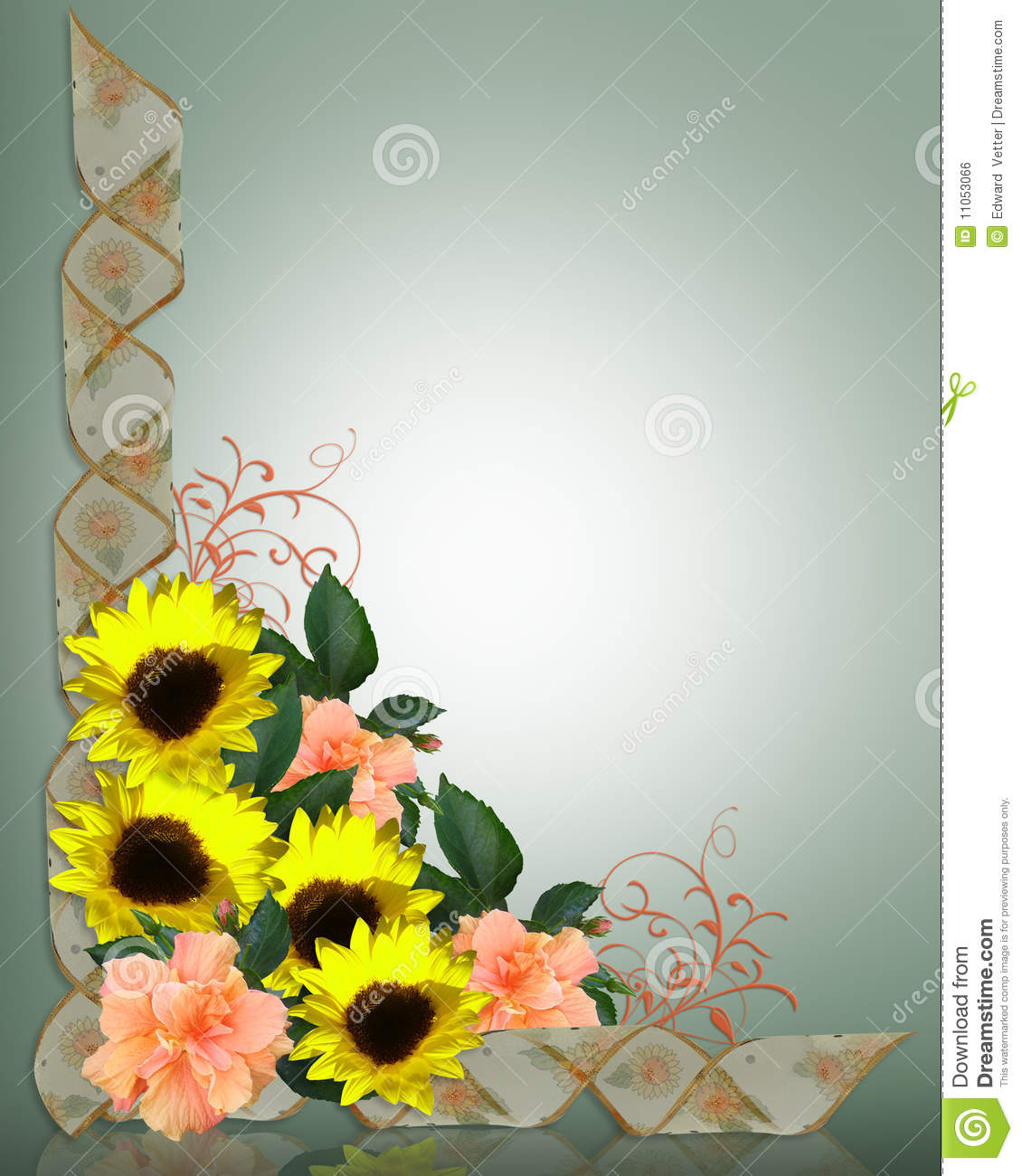Sunflowers And Hibiscus Royalty Free Stock Image  Image