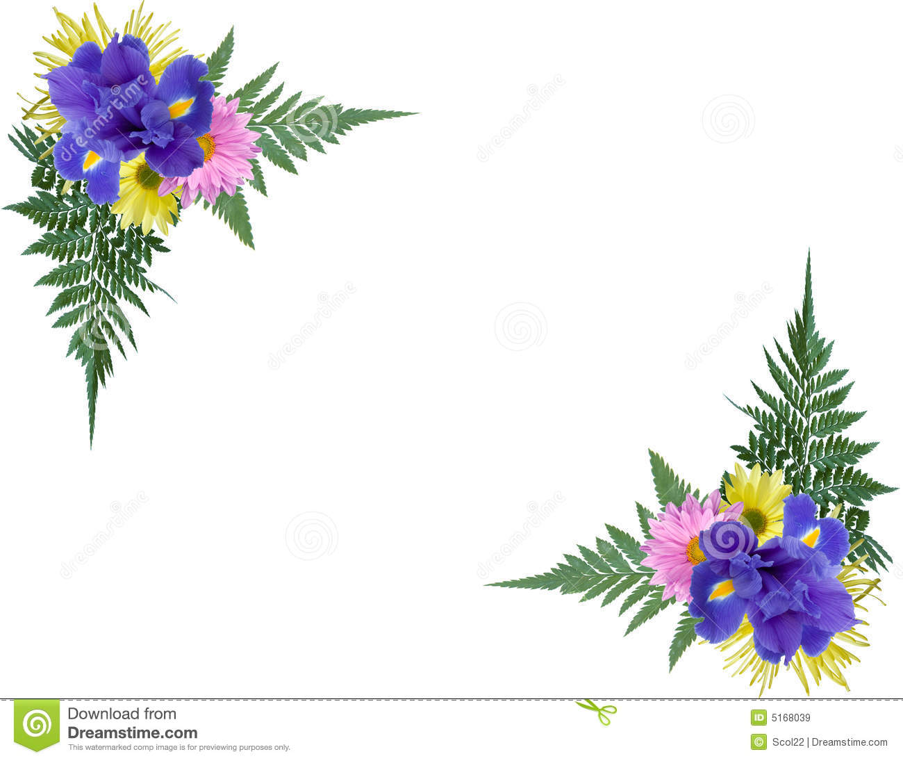 Floral Corners Royalty Free Stock Images