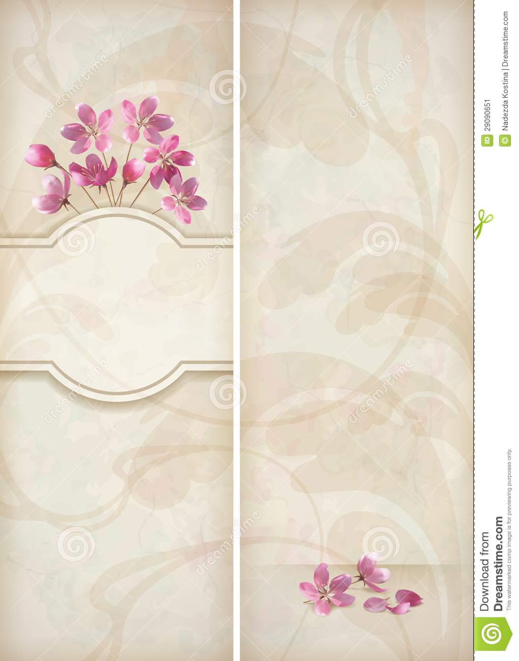 Floral Decorative Wedding Menu Template Design Stock Image Image 29090651