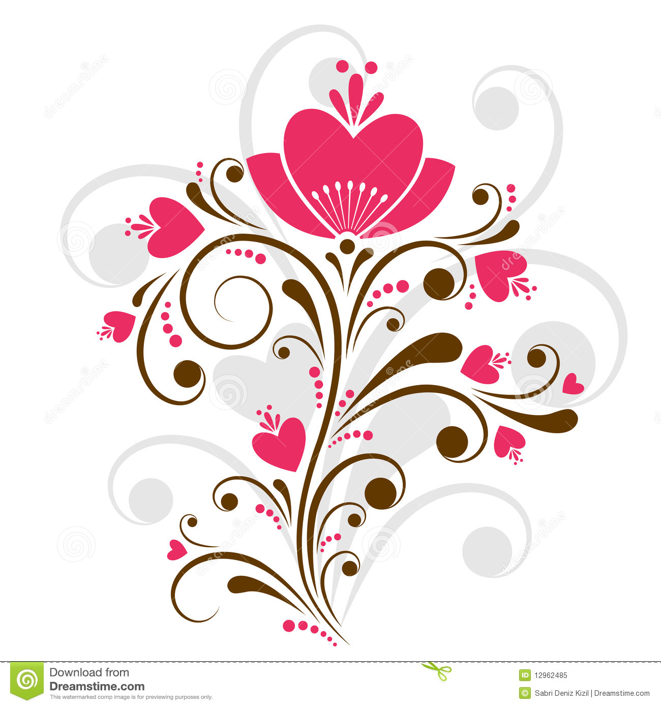 floral design vector stock