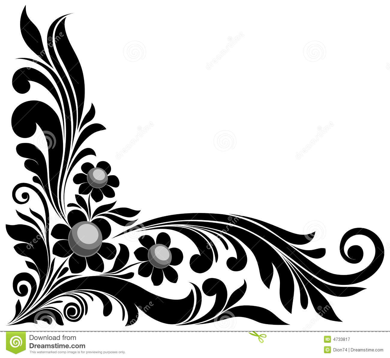 floral element stock vector
