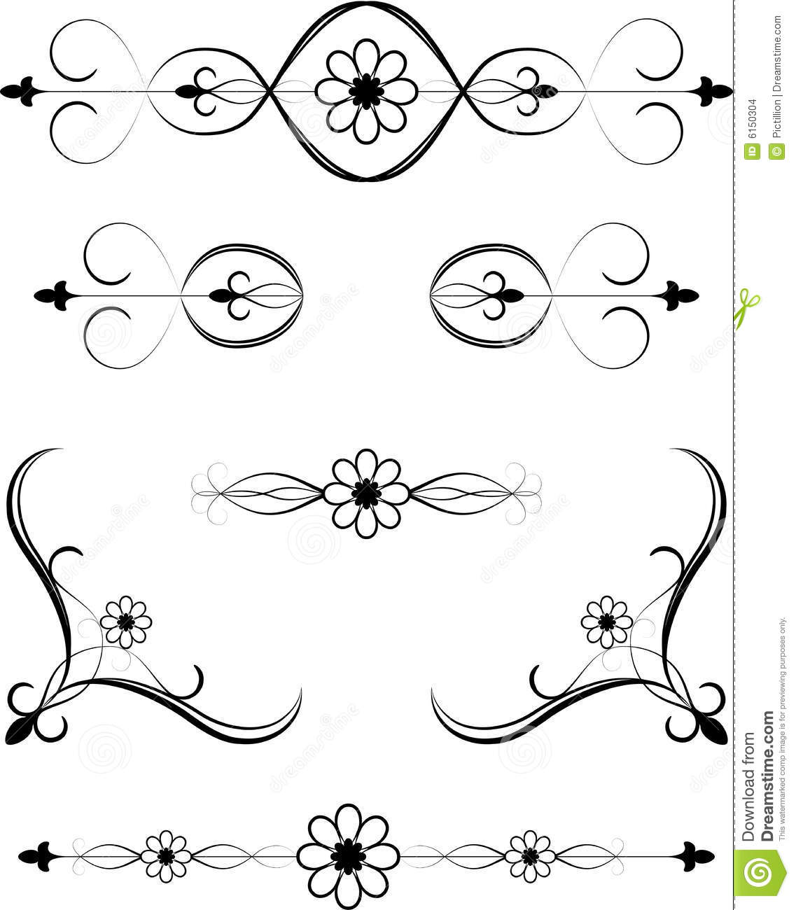 Floral Embellishment Stock Images