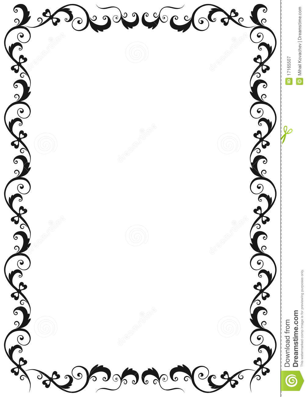 Floral Frame stock vector. Image of frame, classical