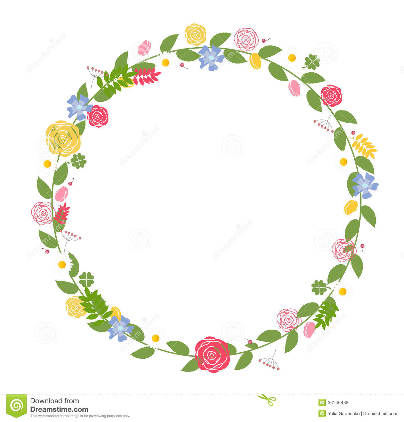Floral Frame For Wedding And Birthday Card Vector Stock