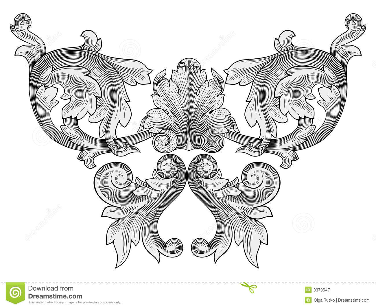 Floral Ornament Vector Royalty Free Stock Photography