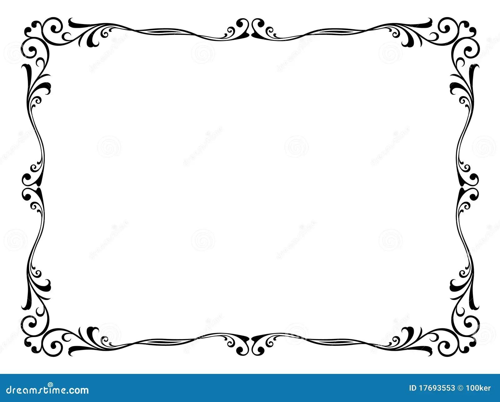 Floral Ornamental Decorative Frame Stock Vector