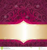 Floral Red And Gold Luxury Vintage Invitation Wallpaper ...